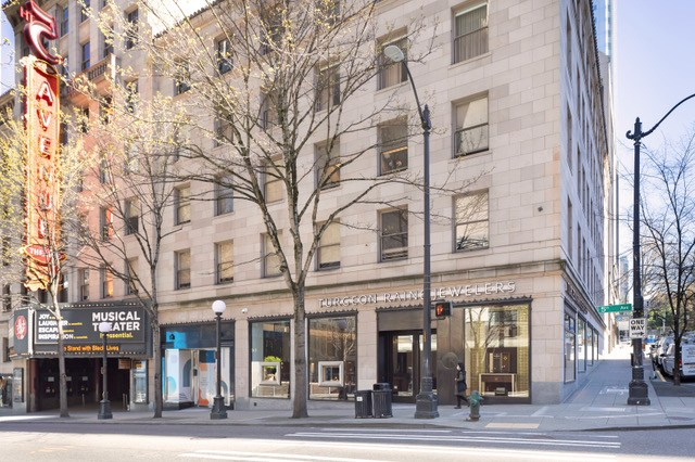 Unico Properties, Turgeon Raine, Skinner Building, Seattle, Gucci, Metropolitan Tract