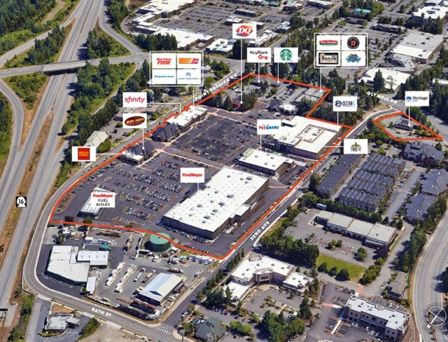 Olympic Towne Center, Gig Harbor, Kidder Mathews, WWRP Properties, Fred Meyer, Boeing, Joint BAse Lewis-McChord (JBLM), State Farm Insurance, MultiCare Health System