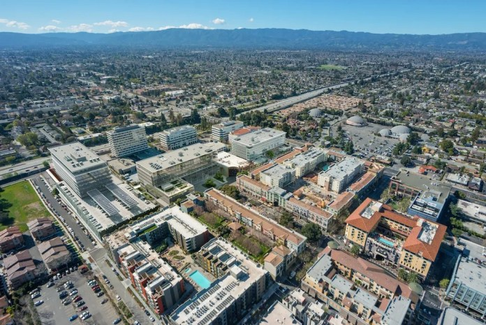 photo - Santana Row perspective w offices rendered - medium res