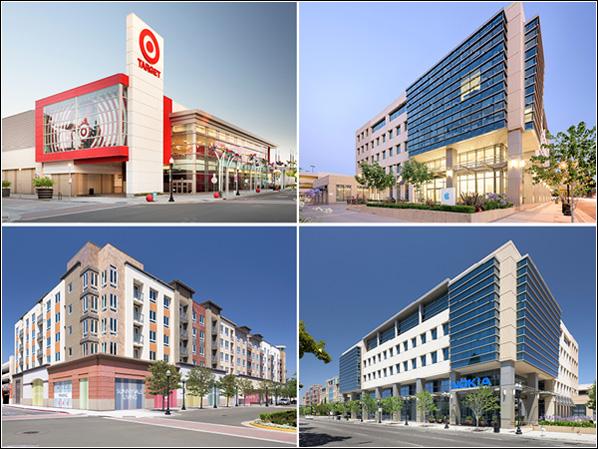 Sunnyvale Town Center, J.P. Morgan, Bay Area, Sares Regis, Hunter Properties, Wells Fargo Bank, Menlo Park, Sand Hill Property Company