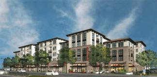 SummerHill Apartment Communities Studio T Square Gangi Corporation El Camino Real Caltrain Santa Clara Town Centre Residential Retail