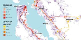 SPUR Caltrain BART Box Samsung Warm Springs/South Fremont Community Plan San Francisco Bay Area Rethinking Corporate Campus