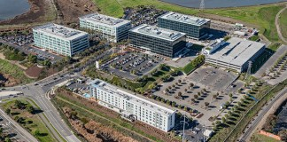 Hewlett Packard Enterprise, Santa Clara, Palo Alto, San Jose, Silicon Valley, Foster City, Steelwave, America Center Drive, America Center 2, San Francisco Bay, USAA Real Estate, Cushman & Wakefield