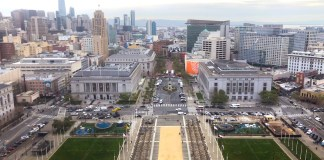 Civic Center, San Francisco Planning Department, Civic Center Public Realm Plan, UN Plaza, Civic Center Plaza, Fulton Street, Asian Art Museum, Main Library, Farmer's Market, Civic Center Plaza, Golden Gate Avenue, Bill Graham Civic Auditorium, War Memorial Opera House, Orpheum Theater