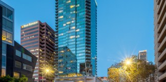 ASB Real Estate Investments, WaterMarke Tower, ASB Allegiance Real Estate Fund, Los Angeles, Faith & Flower