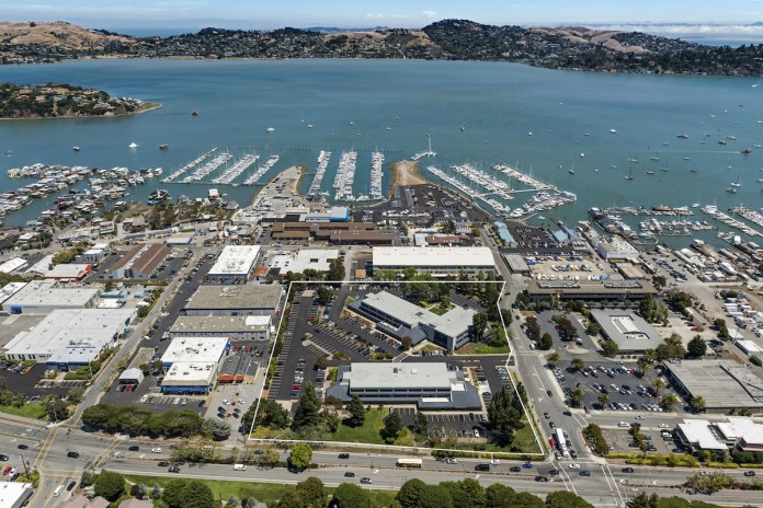 Sausalito The Harbors JLL PM Realty Group The Roseview Group 1 and 3 Harbor Drive Bay Area Marin Seagate Properties San Rafael
