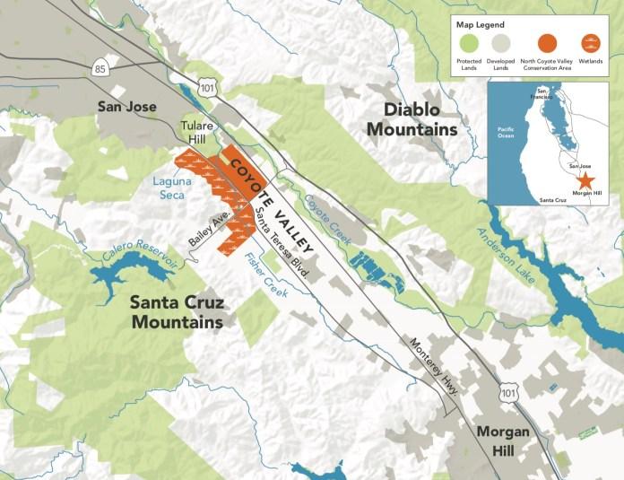 City of San Jose, Coyote Valley, Brandenburg, Sobrato Organization, Cisco, Apple, Peninsula Open Space Trust, OSA