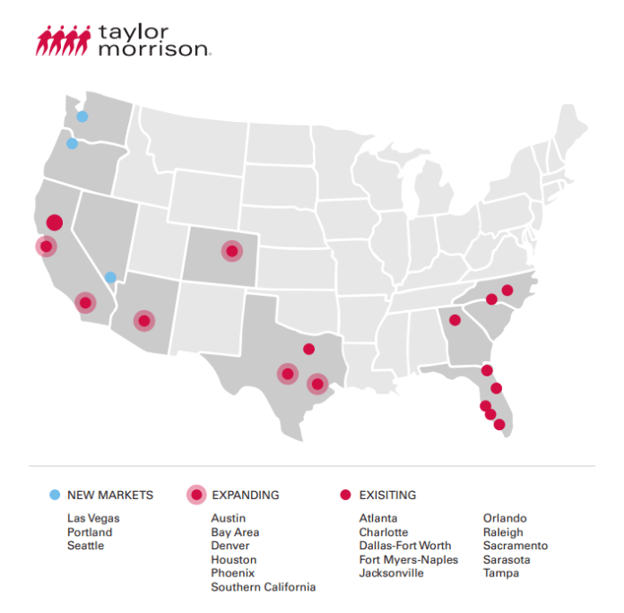 Taylor Morrison, Polygon Northwest Homes, William Lyon Homes, Washington, Oregon, California