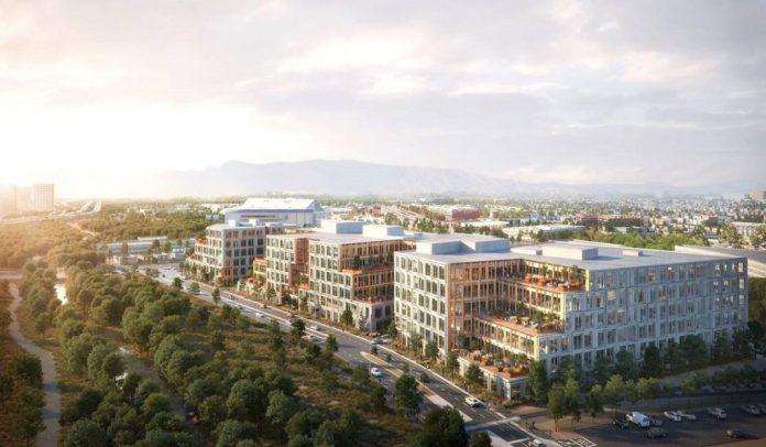 Boston Properties, San Jose, Platform 16, Bay Area, Diridon Station, Kohn Pedersen Fox Associates, Canada Pension Plan Investment Board, TMG Partners, Valley Oak Partners, CBRE