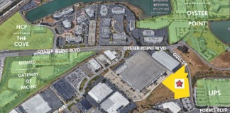 CBRE, South San Francisco, Gateway of Pacific, Oyster Point, UPS, Kilroy Realty, BioMed Realty, The Cove