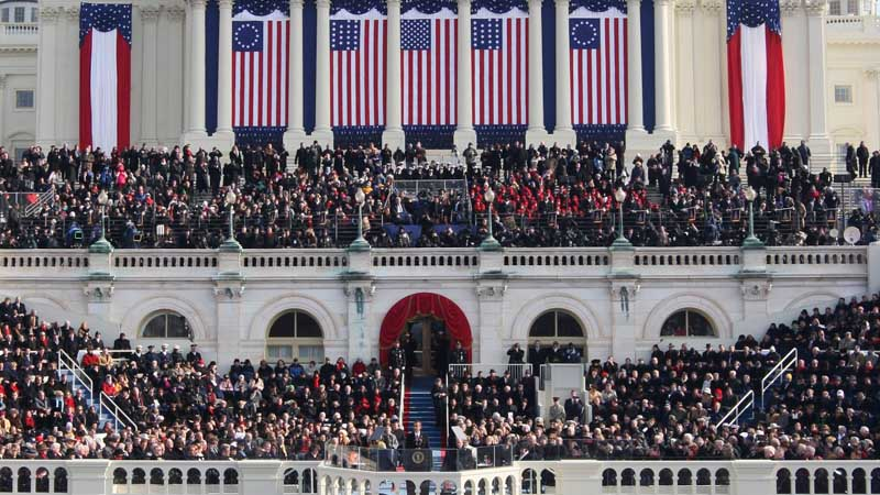 Barack Obama Inauguration flying Betsy Ross Flag