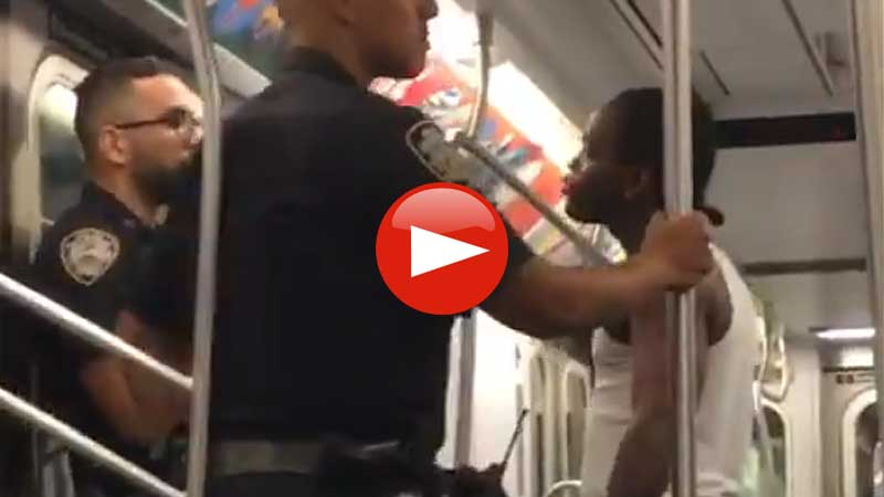 NYPD officers harassed by thug