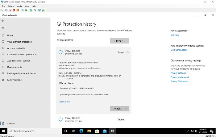 Microsoft Defender Cryptojacking