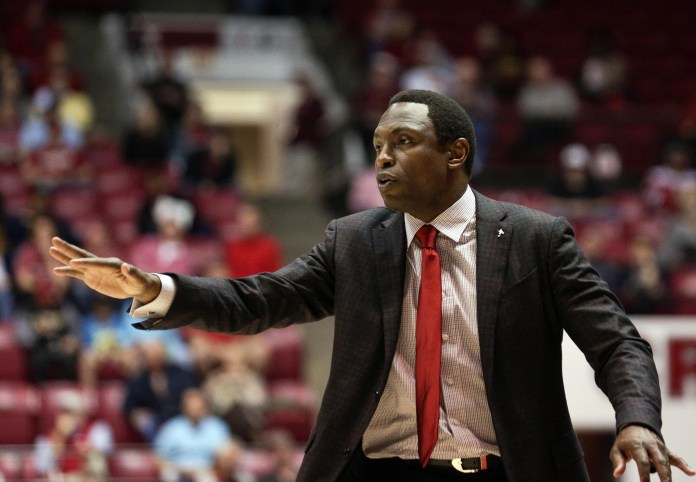 Mar 1, 2017; Tuscaloosa, AL, USA; Alabama Crimson Tide head coach Avery Johnson during the game against Mississippi Rebels at Coleman Coliseum. The Tide defeated the Rebels 70-55. Mandatory Credit: Marvin Gentry-USA TODAY Sports