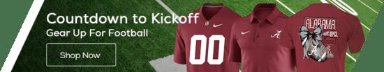 Countdown to Kickoff 2017! Alabama Crimson Tide Fanatics Gear
