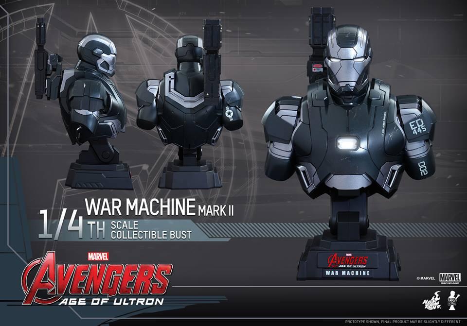 Avengers Age of Ultron Quarter Scale War Machine Bust 1