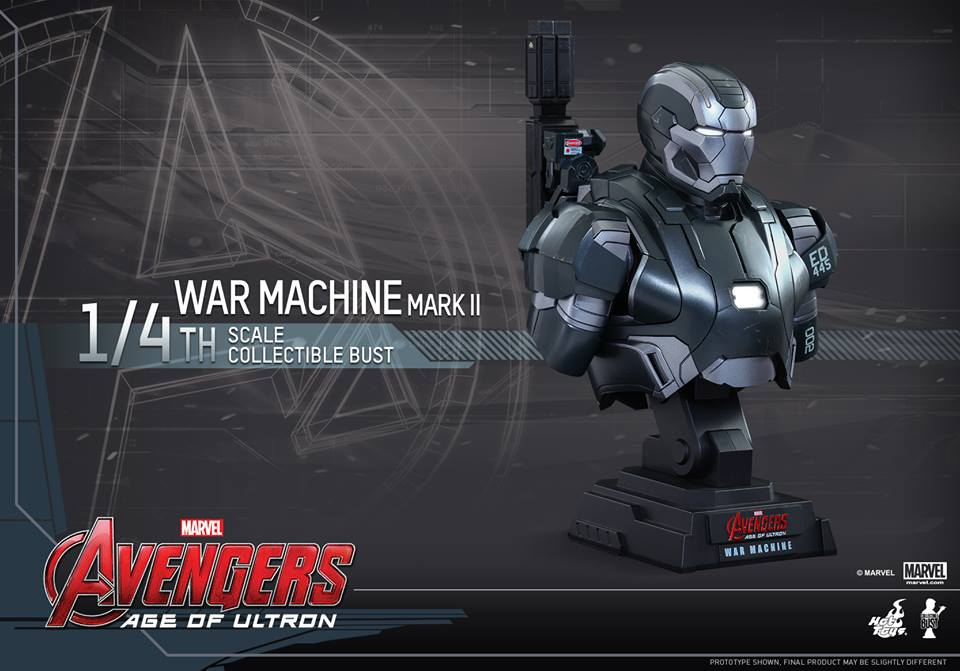 Avengers Age of Ultron Quarter Scale War Machine Bust 2
