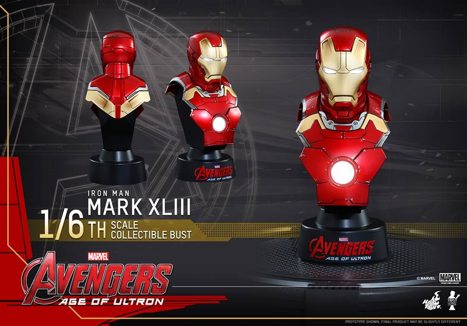 Avengers Age of Ultron Sixth Scale Iron Man Bust 1
