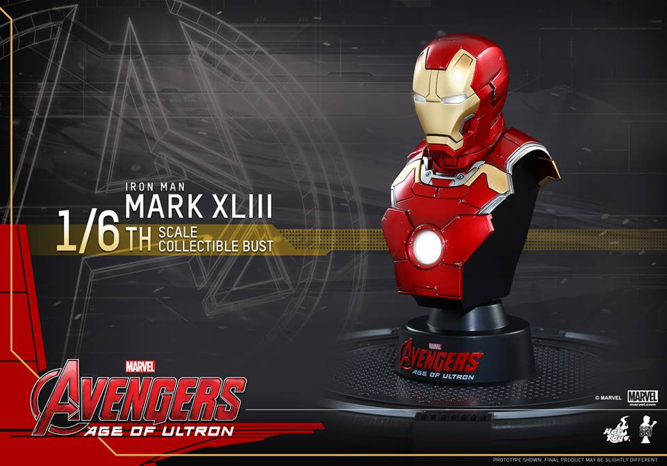 Avengers Age of Ultron Sixth Scale Iron Man Bust 2