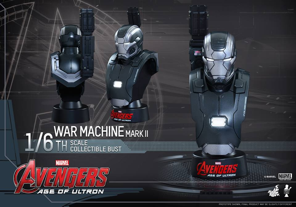Avengers Age of Ultron Sixth Scale War Machine Bust 1