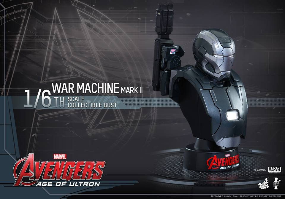 Avengers Age of Ultron Sixth Scale War Machine Bust 2