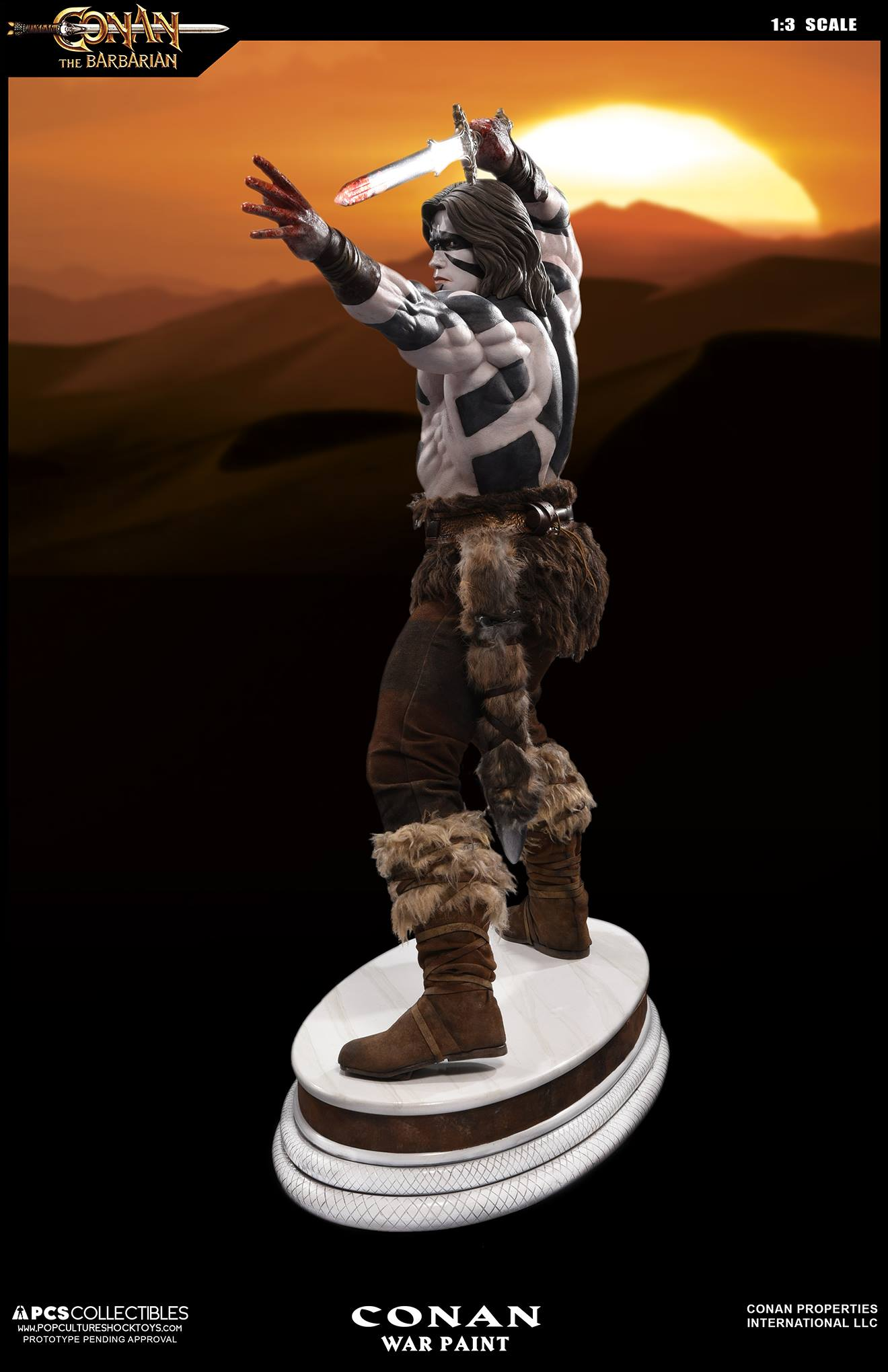 PCS Conan Statue Warpaint 002
