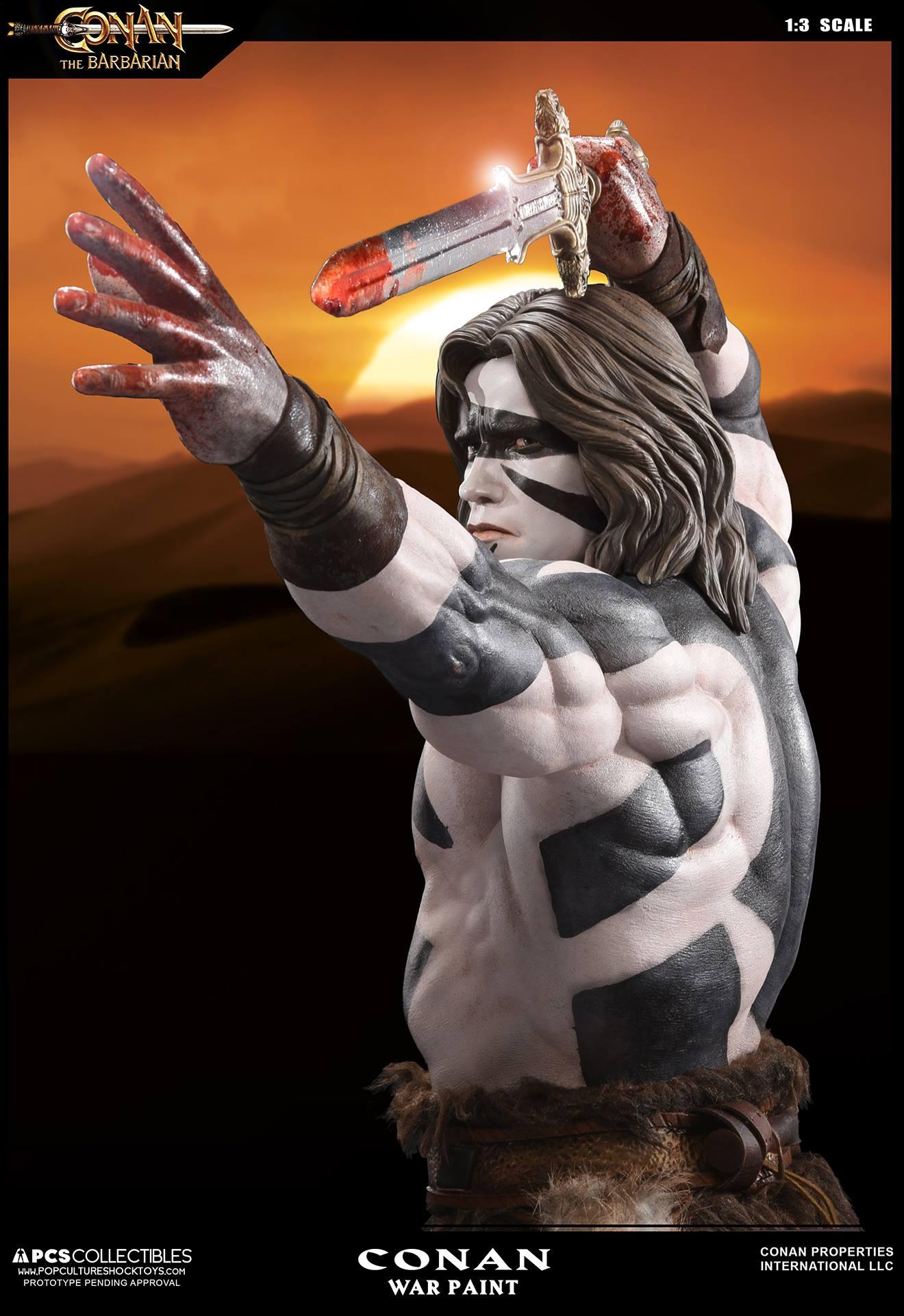 PCS Conan Statue Warpaint 004