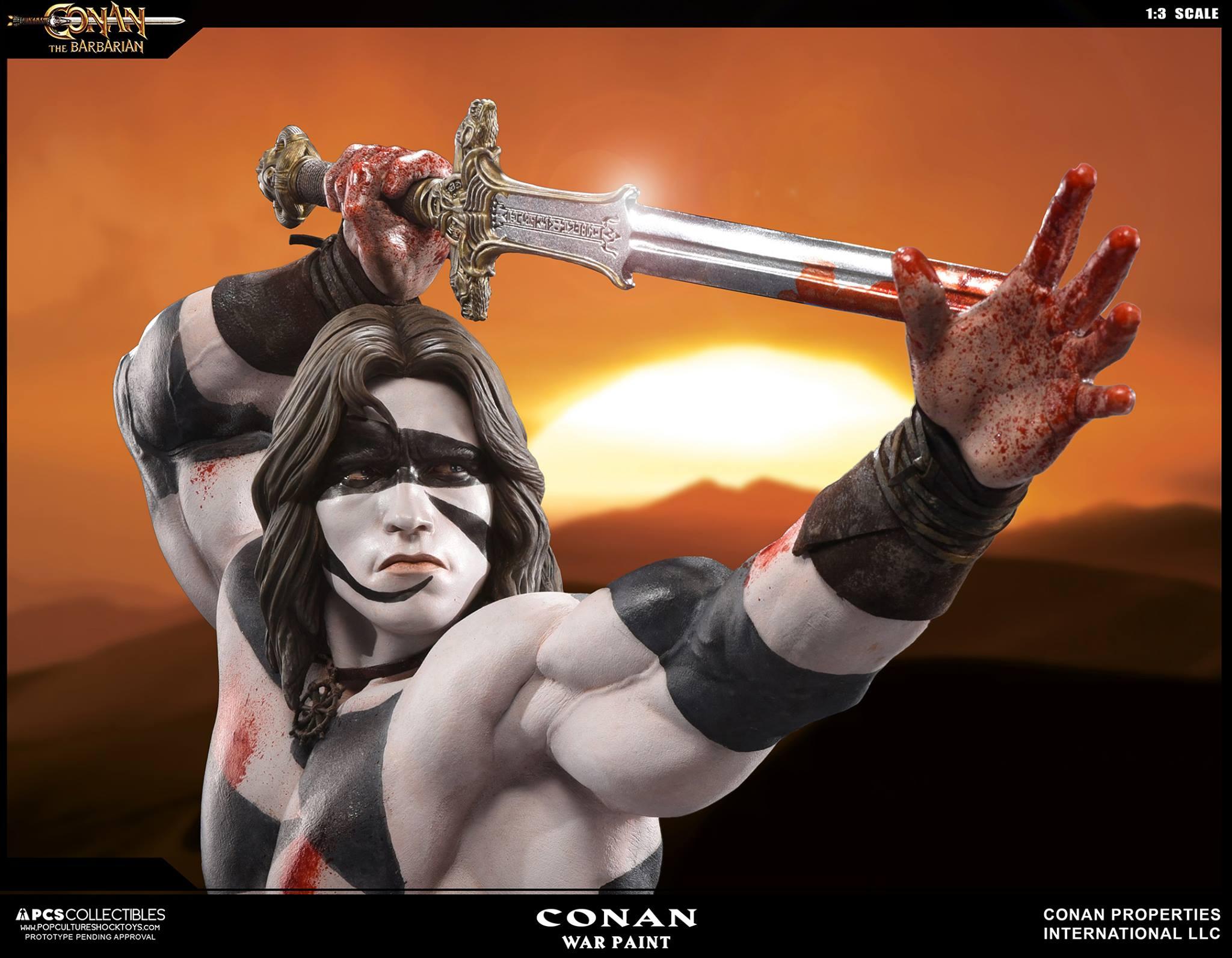PCS Conan Statue Warpaint 005