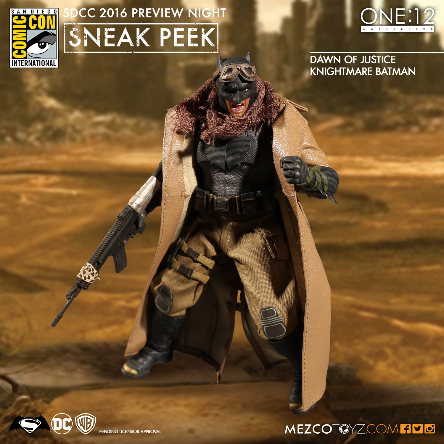 Mezco One12 Collective BvS Knightmare Batman