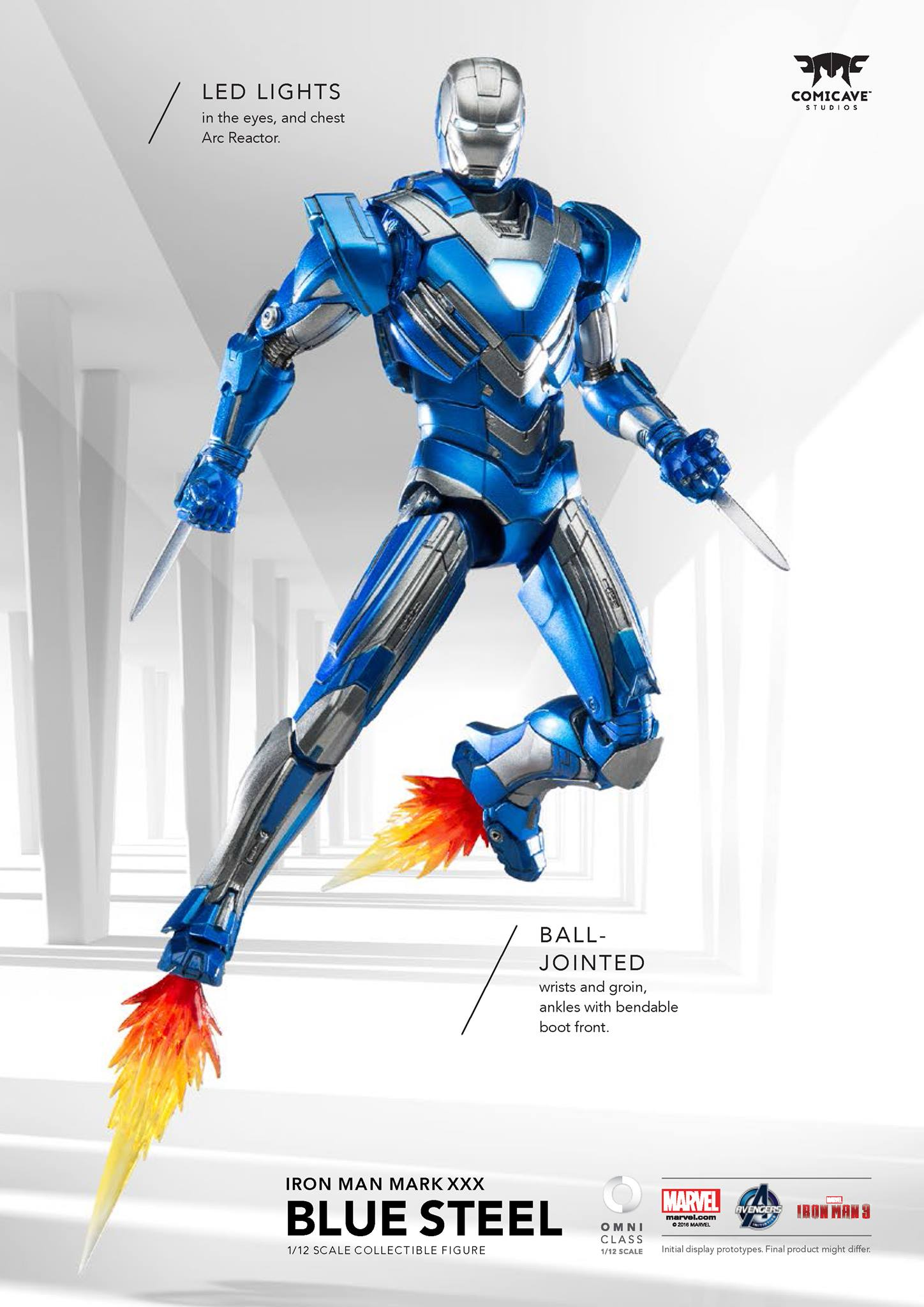 Comicave Iron Man Blue Steel 002