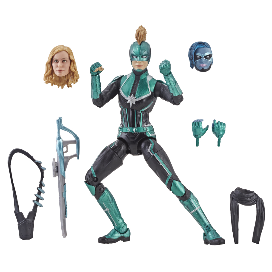 marvel legends binary captain marvel and starforce exclusives