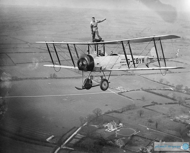 بريطانيا من فوق : مارتن هيرن ، المشي على الجناح في عرض يوم الطيران الوطني، مايو 1932