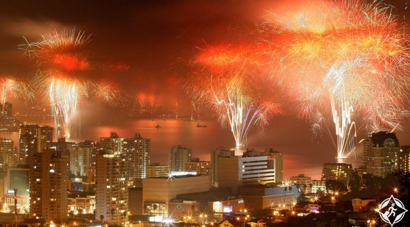 احتفالات ليلة رأس السنة الجديدة (1) فالبارايسو- تشيلي