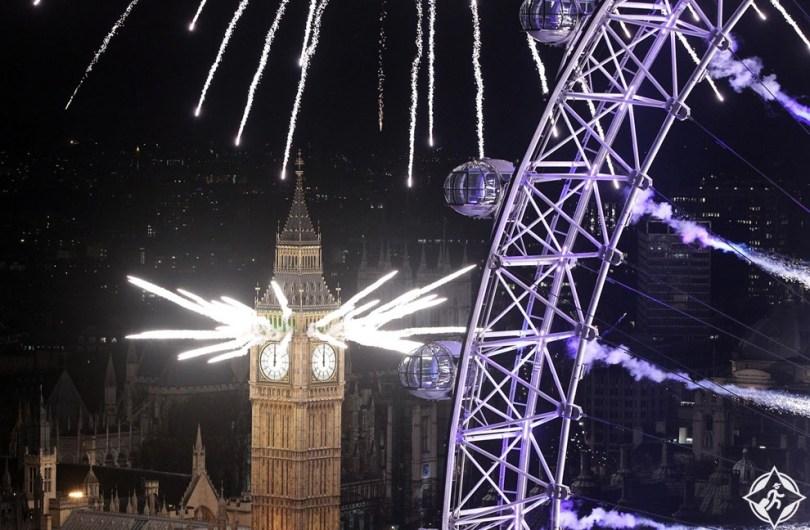 احتفالات ليلة رأس السنة الجديدة (13) لندن ، بريطانيا