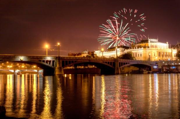احتفالات ليلة رأس السنة الجديدة (2) براتيسلافا، سلوفاكيا