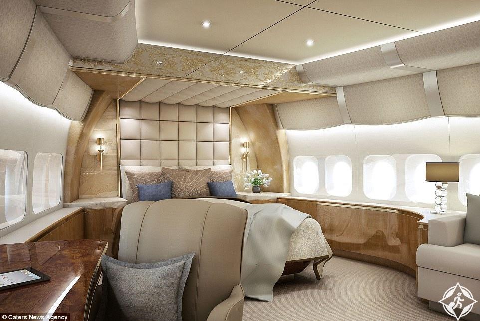 تحويل طائرة جامبو إلى قصر خيالي في السماء