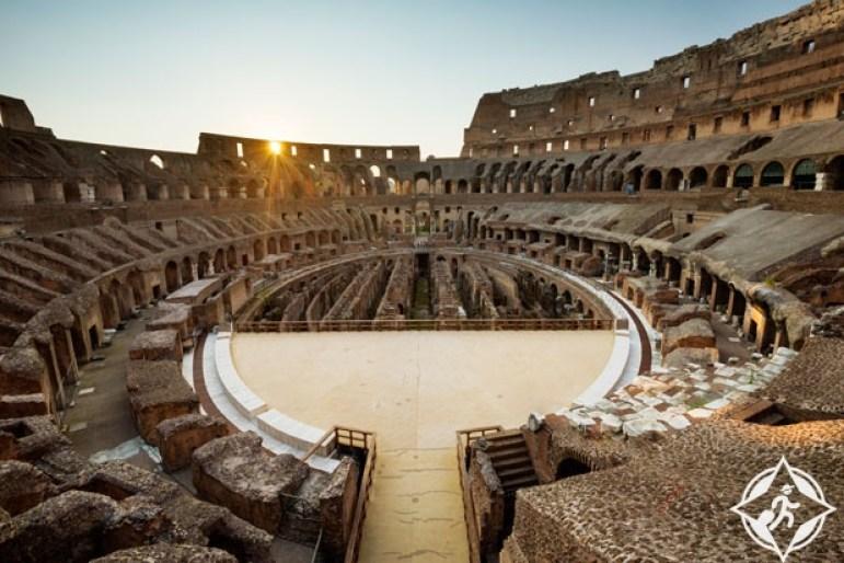 الكولوسيوم روما من أفضل أماكن السفر في العالم