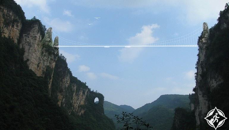 جسر تشانغجياجيه الزجاجى7