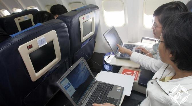 الانترنت على الطائرة