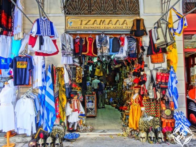 التسوق في اثينا