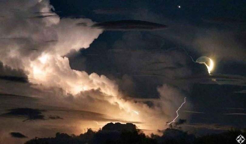 أمريكا-نورث كارولينا-عاصف رعدية-أجمل صور الفضاء