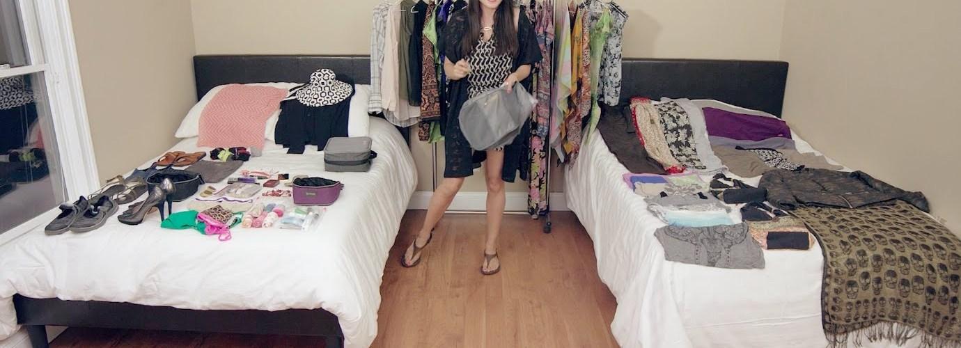 طريقة وضع الملابس في شنطة السفر
