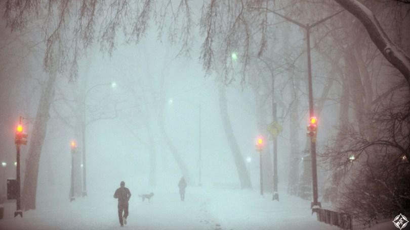 أمريكا-نيويورك-سنترال-بارك-ثلوج-منتصف-الشتاء