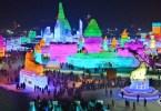 الصين-مقاطعة هيلونغجيانغ-منحوتات مضيئة-مهرجان هاربين للثلج والجليد