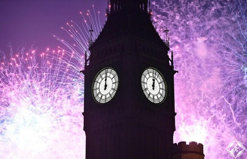 بريطانيا-لندن-ساعة بيج بن-العام الجديد 2017