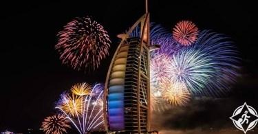 دبي تستقبل العام الجديد 2017