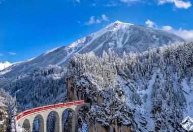سانت موريتز-جبال الألب-قطار النهر الجليدي اكسبريس-أكثر اماكن سياحية رومانسية