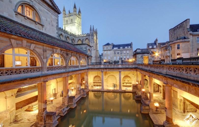 الحمامات الرومانية-المملكة المتحدة-مدينة باث