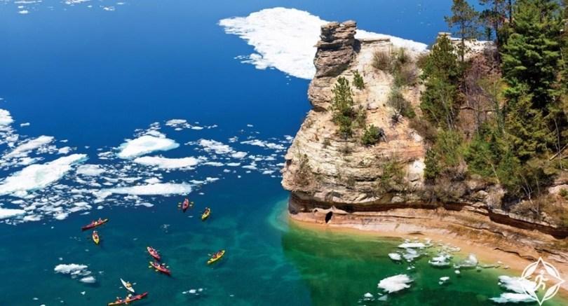 ميشيغان - حديقة ساحل الصخور المصورة الوطنية