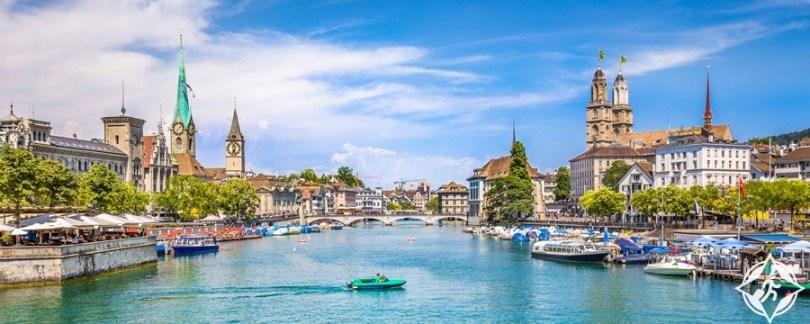 البحيرات في سويسرا - بحيرة زيوريخ